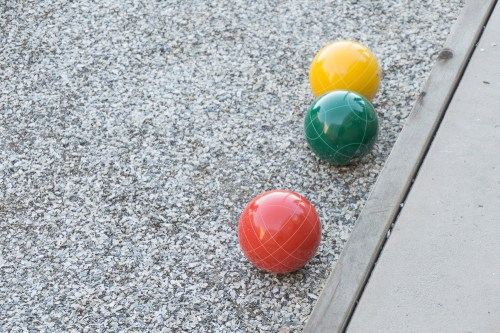 bocce and reflections