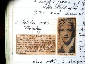 David F Diehl Oct 1943 newspaper Air Force notice lores