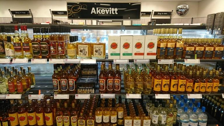 ノルウェーの酒売り場の店内の様子