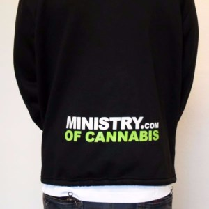Black Ministry of Cannabis Male Sweater Jacket