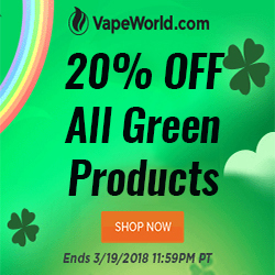 Green Discount VapeWorld Coupon Code