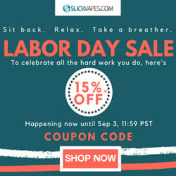 Labor Day Sale Discount SlickVapes Coupon Code