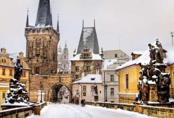 Фото Прага Зимой