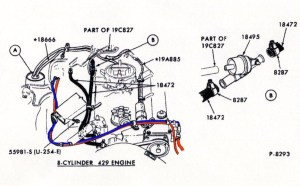 heater hose routing