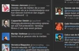 Screenshot van Tweetdeck