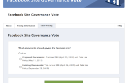 Site Governance vote-pagina Facebook