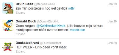 Donald Duck op twitter: actualiteit