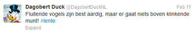 Donald Duck op twitter: humor