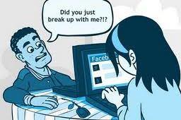 Uitmaken via Facebook