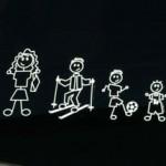 Familie op achteruit