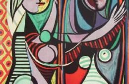 Pablo Picasso-Vrouw voor de spiegel
