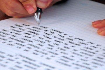 tekst schrijven
