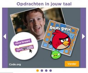 code.org in eigen taal