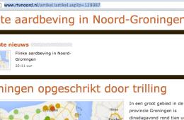 Grote aardbeving in Noord-Groningen