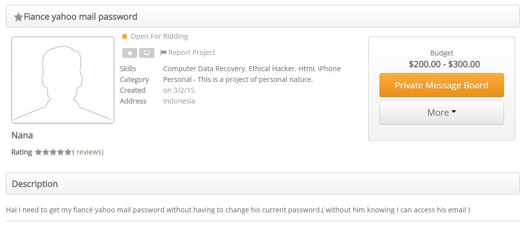 Hackerslist verloofde