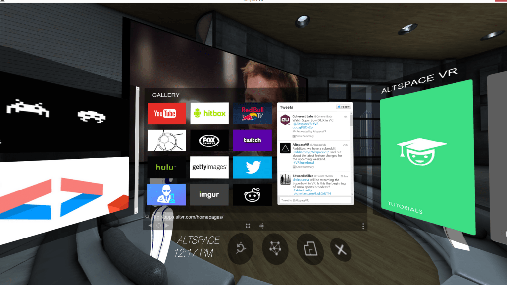 altspace vr screen