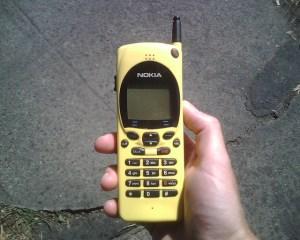 Vintage Yellow Nokia Mobile Phone