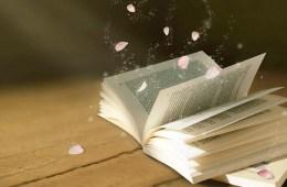 Open boek op tafel