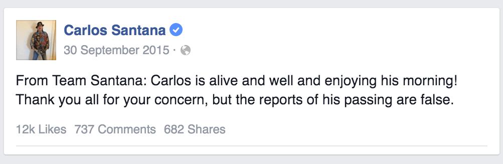 Carlos-Santana-Tweet-Fictief-Nieuws