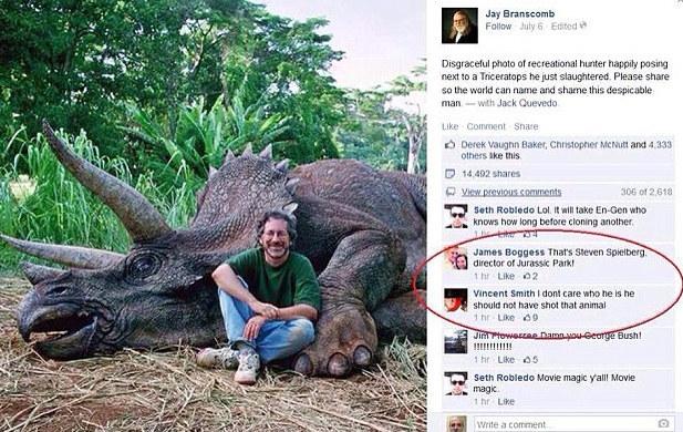 Speilberg killed a Dino