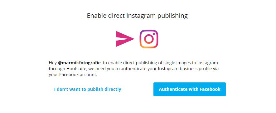 instagram inplannen via hootsuite