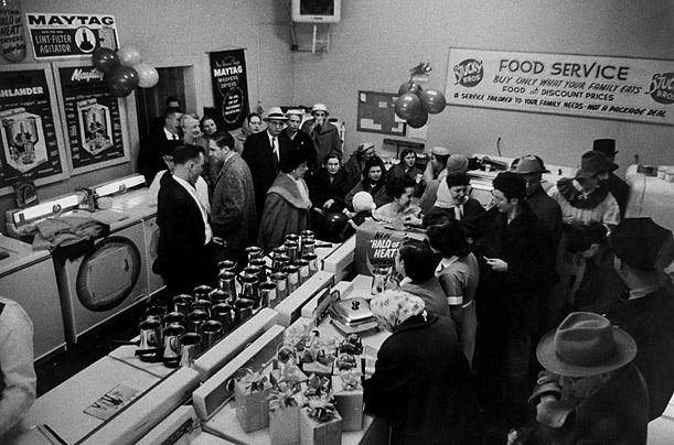 Spring Promotion--  A Maytag dealer, in Fort Wayne, Illinois, tempted customers with gifts and a band in an effort to overcome their fears about buying a new appliance.