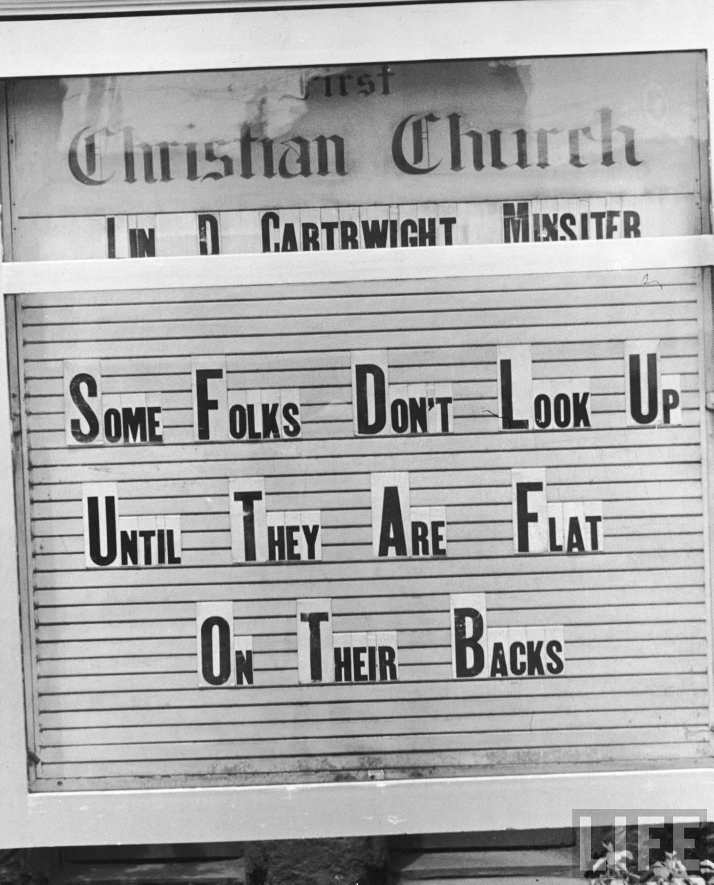antique vintage church sign