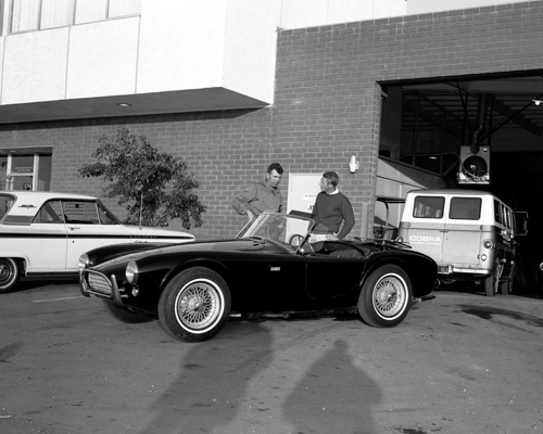 Carroll Shelby, Steve McQueen and the equally legendary Cobra.