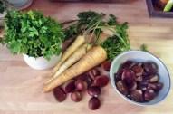 Petersilien,Pastinaken Suppe mit Maronen - 14.10.15 (3)