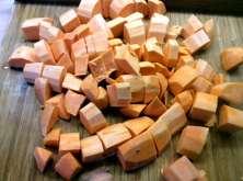 25.3.16 - Rotbarsch,Süßkartoffelpürree,Salat,Petersiliensoße (6)