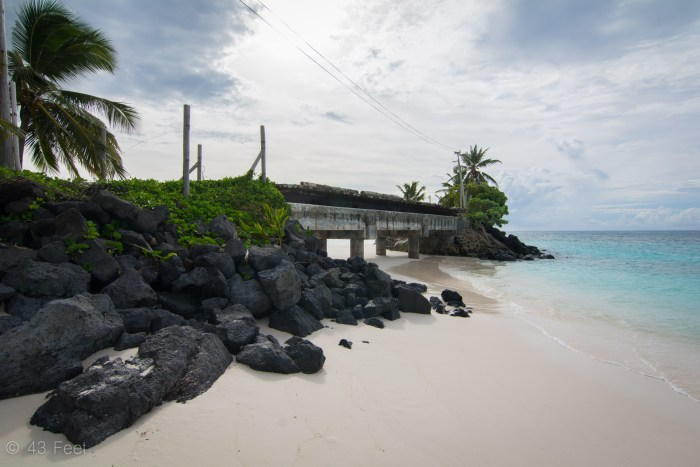 brigde over beach rotuma fiji