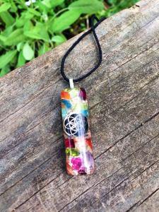 Amethyst 7 Chakra Balance Pendant – Orgonite®- Seed of Life3