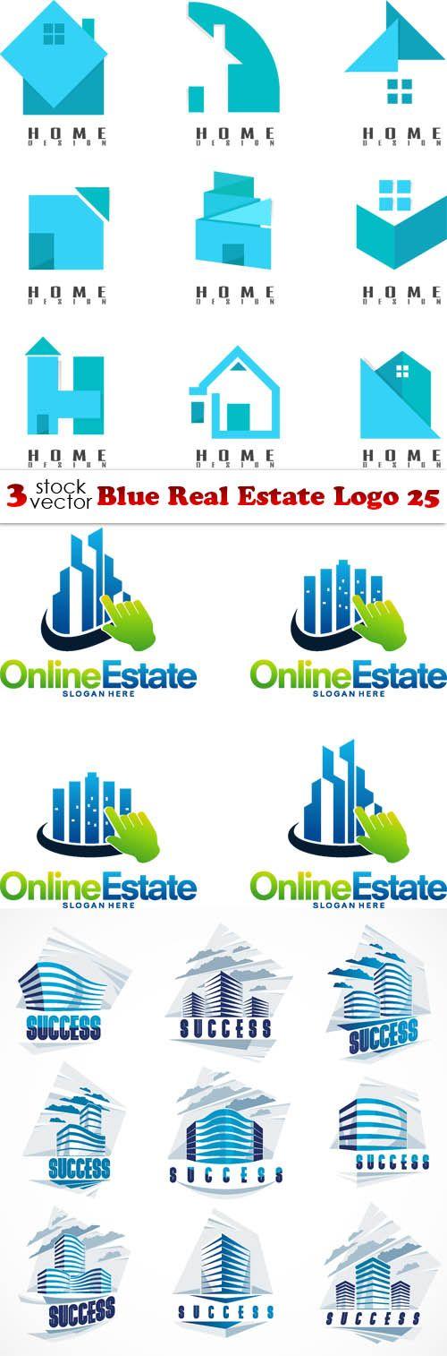 Vectors - Blue Real Estate Logo 25