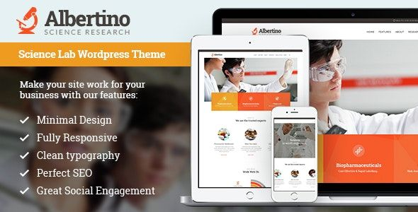 Albertino v1.6.1 - Science Laboratory Research & Technology WordPress Theme