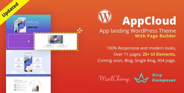 AppCloud v1.0.6 - App Landing WordPress Theme