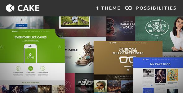 Cake v1.5.3 - Responsive Multi-Purpose WordPress Theme