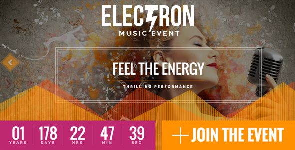 Electron v1.5.1 - Event Concert & Conference Theme