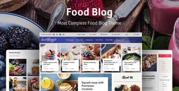 Food Blog v1.0.2 - Theme For Personal Food Recipe Blog