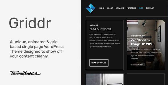 Griddr v1.0.2 - Animated Grid Creative WordPress Theme
