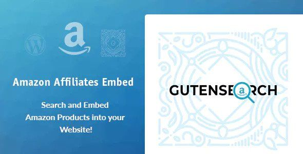 GutenSearch v1.0.1 - Amazon Affiliates Search And Embed