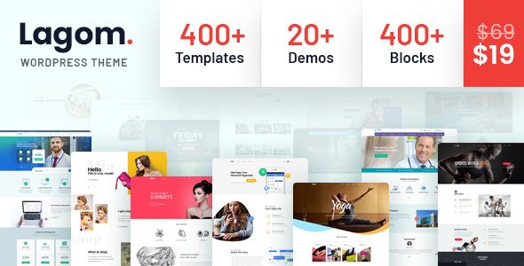 Lagom v1.0.2 - Multi Concept MultiPurpose WordPress Theme