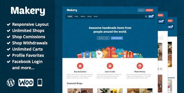 Makery v1.23 - Themeforest Marketplace WordPress Theme
