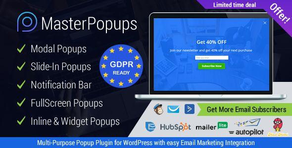 Master Popups v2.5.3 - Popup Plugin For Lead Generation