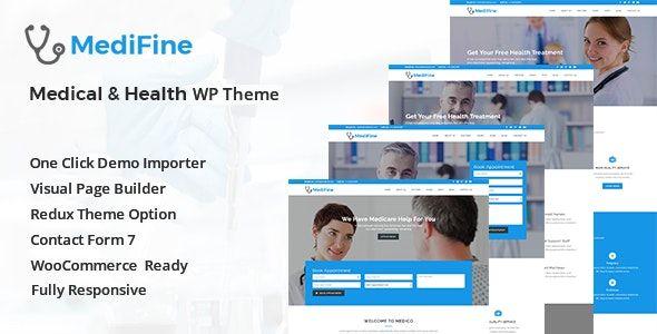 MediFine v1.0.0 - Health And Medical WordPress Theme