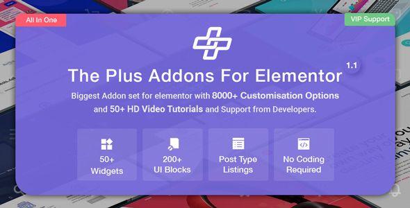 The Plus v1.4.3 - Addon For Elementor