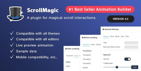 Scroll Magic v3.5 - Scrolling Animation Builder Plugin