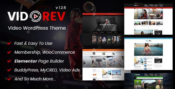 VidoRev v1.2.6 - Video WordPress Theme