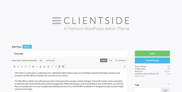 Clientside v1.13.2 - WordPress Admin Theme