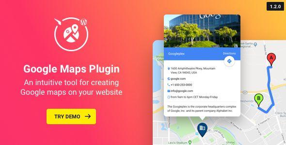 WP Google Maps v1.2.0 - Map Plugin For WordPress