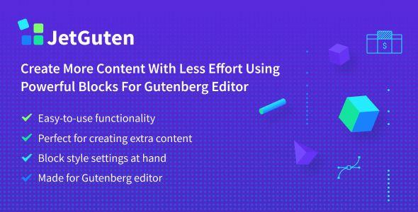 JetGuten v1.0.0 - Blocks Set Addon For Gutenberg Editor